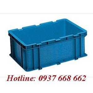 Thùng chứa NAC 602. Kích thước: 600 x 400 x 240mm, Màu xanh dương.