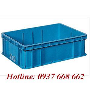Thùng chứa NAC 605. Kích thước: 800x600x240 mm.