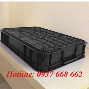 Mặt đáy thùng nhựa đặc Hs007 chống tĩnh điện.