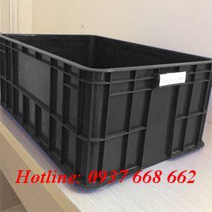Thùng nhựa đặc Hs017 chống tĩnh điện. Kích thước: 610x420x250 mm