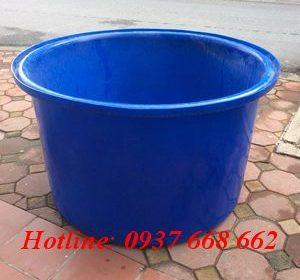 Thùng tròn M750. Kích thước : Ø128-102 x 77 cm.