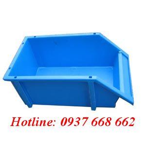 Khay linh kiện A8. Kích thước: 354x210x143 mm. Màu xanh dương