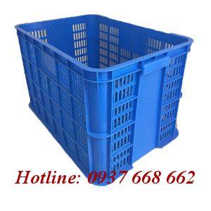 Thùng nhựa rỗng 8T - Kt: 610x420x390 mm.