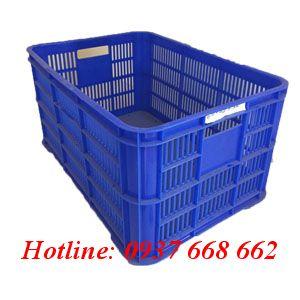 Thùng nhựa rỗng Hs004 - Kt: 610x420x310 mm.