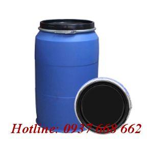thùng phuy nhựa (đựng hóa chất) 220l - Đai sắt.
