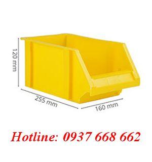 Khay linh kiện FLC. Kích thước: 255x160x120 mm. Màu vàng.