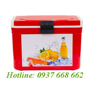 Thùng đá (thùng giữ lạnh) Hibox 14L. Kích thước: 326x255x271 mm.