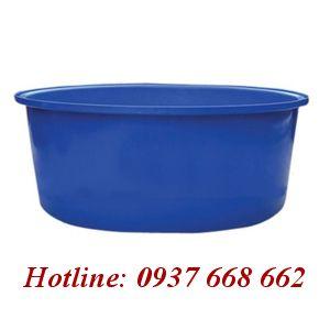 thùng nhựa tròn dung tích 2000l. Kích thước: 180x190x75 cm.