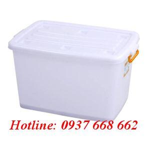 thùng vuông (hộp nhựa) 220l (Bx). Kích thước: 1020xx610x460 mm