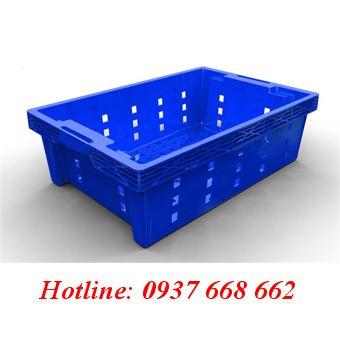Thùng nhựa rỗng ( Sóng cá) Hs002. Kích thước: 525x355x150 mm