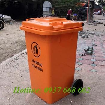 Thùng rác nhựa 100l. Kích thước: 480x570x850 mm