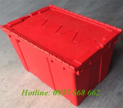 Bán Thùng nhựa đặc nắp liền DCS174. Kích thước: 335x530x280 mm