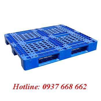 Pallet nhựa PL466. Kích thước: 1200x1000x150 mm