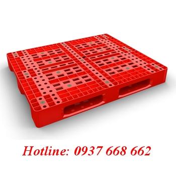 Pallet nhựa pl04lk giá rẻ. Kích thước: 1200x1000x150 mm