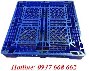 Pallet nhựa PL09lk. Kích thước: 1100x1100x150 mm