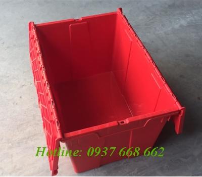 Thùng nhựa đặc nắp liền. Kích thước: 335x530x280 mm