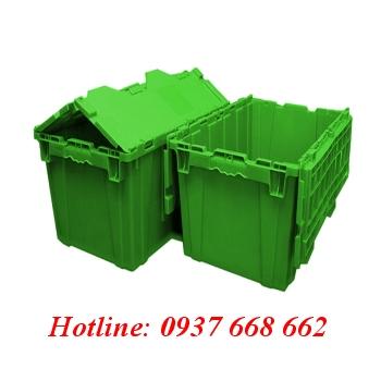 Thùng nhựa đặc DCS176. Kích thước: 405x610x360 mm
