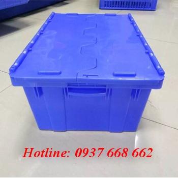 Thùng nhựa đặc kèm nắp DCS176. Kích thước: 610x405x360 mm