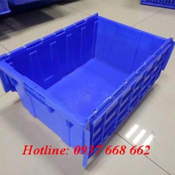 Thùng nhựa nắp liền Kích thước: 610x405x360