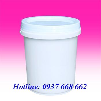 Vỏ thùng sơn 10L. Kích thước: Ø269-208 xH313