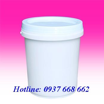 Vỏ thùng sơn 18L. Kích thước: Ø356-208 x H370 mm
