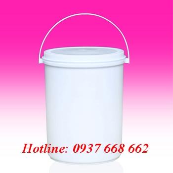 Vỏ thùng sơn 4L giá rẻ. Kích thước: Ø 189-159x225 mm