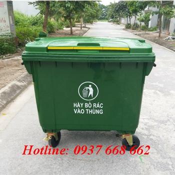 Thùng rac nhựa 660l HDPE