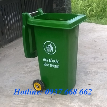 Thùng rác nhựa composite 120l. Kích thước: 580x470x950 mm