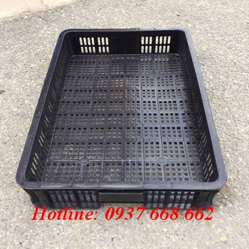 sóng nhựa hở hs010 chống tĩnh điện - Kt: 610x420x100mm