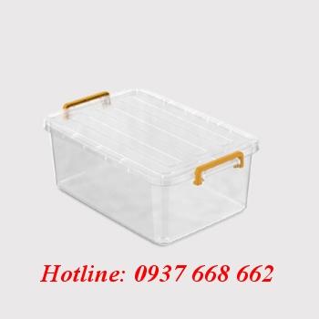 Thùng chữ nhật (hộp nhựa) 30l. kích thước 57 x 38 x 21 cm