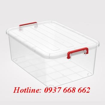 thùng chữ nhật (hộp nhựa) 55l