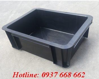Thùng nhựa b7 chống tĩnh điện. Kích thước: 370x280x125 mm