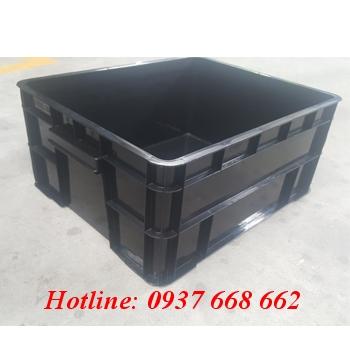 Thùng nhựa B8 chống tĩnh điện - Kt: 520x424x220mm