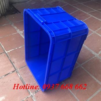 Cạnh bên thùng nhựa 6 sóng bít nan thưa