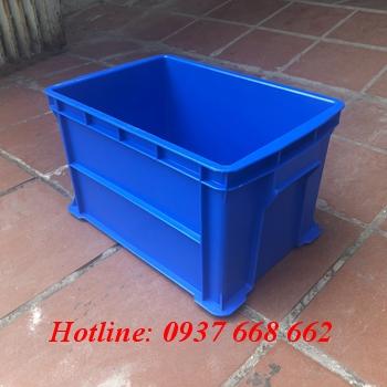 Thùng nhựa b6. Màu xanh dương