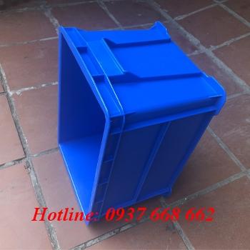 thùng nhựa b6 xanh dương