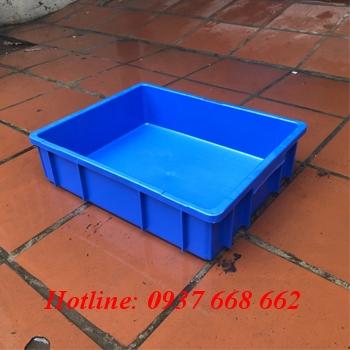 Thùng nhựa b9. Kích thước: 495x395x115 mm