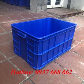 Thùng nhựa đặc Ha019. Màu xnah dương