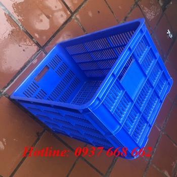 thùng nhựa rỗng Hs004, kích thước: 610x420x310