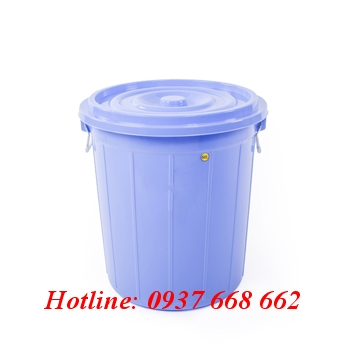 thùng tròn 60l màu dương