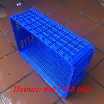 Thùng nhựa rỗng ha009 màu xanh dương