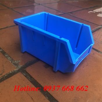 khay nhựa linh kiện a6, màu xanh dương