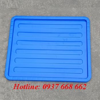 Nắp thùng nhựa B8, màu xanh dương