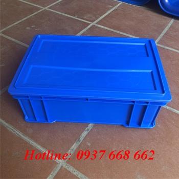 khay nhựa b4 kèm nắp, kích thước: 510x340x170 mm