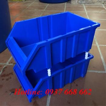 Khay nhựa đựng linh kiện A9. Màu xanh dương
